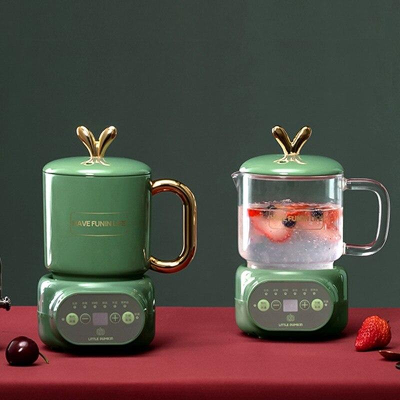 220V 600 мл мини электрический тушить чашки офис Чай овсянка молочный нагрева воды чайник Керамика/Стекло супа здоровья Плита