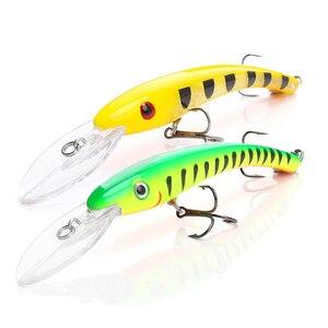 Image 5 - TREHOOK Minnow esche da pesca Wobblers per pesca a traina/luccio 10cm 9.5g esche galleggianti finte/rigide Minnow nero esca trota