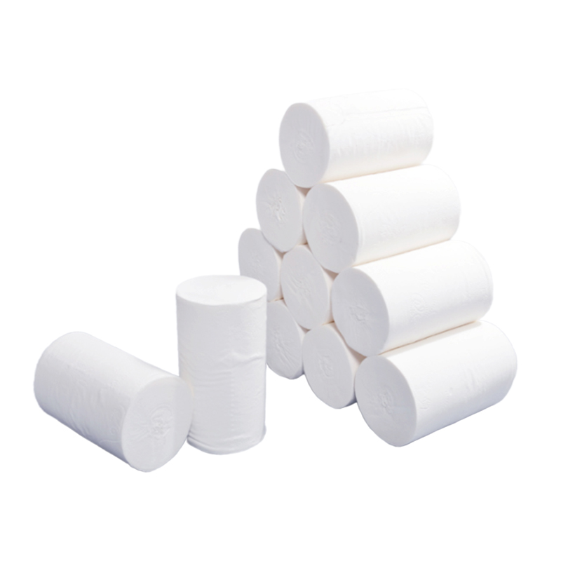 1 Roll Soft Wood Pulp Skin-friendly Paper Towels Bathroom Supply 4 Layer Toilet Tissue Home Bath Toilet Roll Paper
