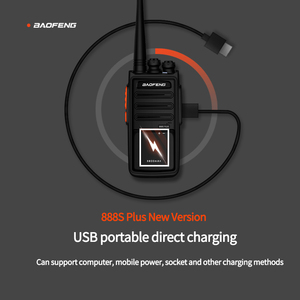 Image 4 - 2Pcs BaoFeng BF 888S Plus Walkie Talkie 16CH Clearer Voice & longer range Updated with USB direct Charging two way radio 2020