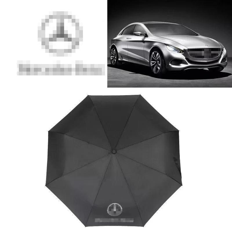 Car umbrella parasol high quality business umbrella black umbrella automatic umbrella with car logo for Mercedes-Benz