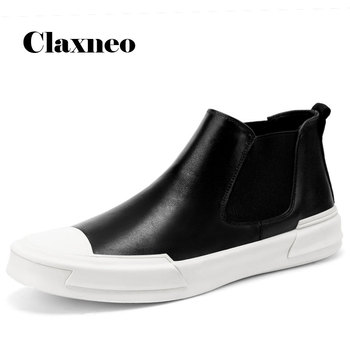 Men's Chelsea Boots Casual Leather Shoes 2020 Autumn Man Boot Genuine Leather Male Shoe Handmade Ankle Footwear Soft clax men shoes genuine leather spring autumn casual shoe male leather shoe walking footwear soft black fashion