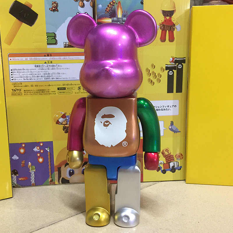 28 Cm 400% Bearbricklys Super Heroes Deadpool Action Figure Blok Bear Jack Spicer Boneka Koleksi Model Mainan untuk Teman