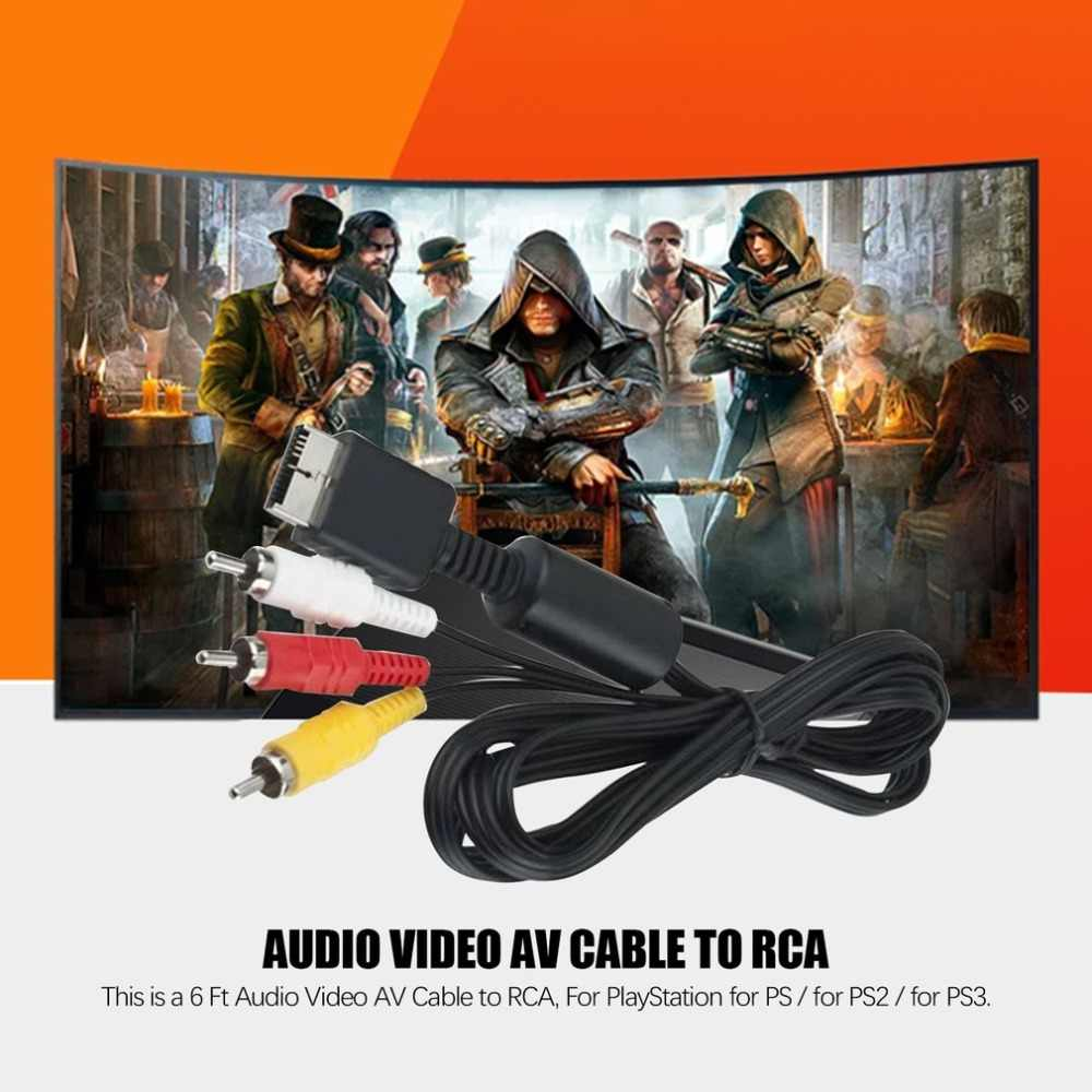 Compuesto s-video RCa aV 2in1 audio Video Cable S-video aV Cable para PS2 para PS3 para Playstation 2 3 consola