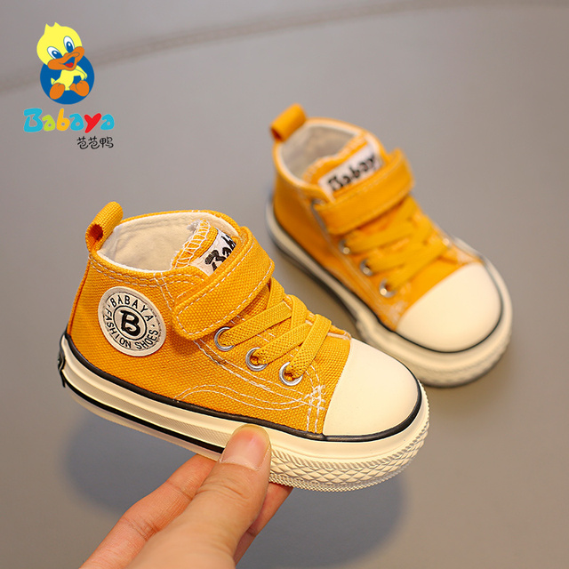 Childrens canvas shoes baby shoes boys 1 3 years old toddler shoes girls cloth shoes 2019 autumn new