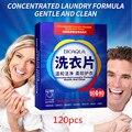 120 pces fórmula detergente para roupa nano super concentrado sabão de lavagem suave folhas de pó produtos de limpeza de lavanderia ^ 20