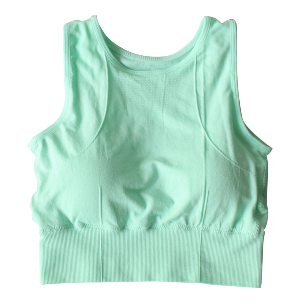 Wonderful! Women Sport Bra Top Black Underwear Mesh Tank Female Vest Solid Gym Tops Yoga Fitness Padded Seamless Push up Cotton