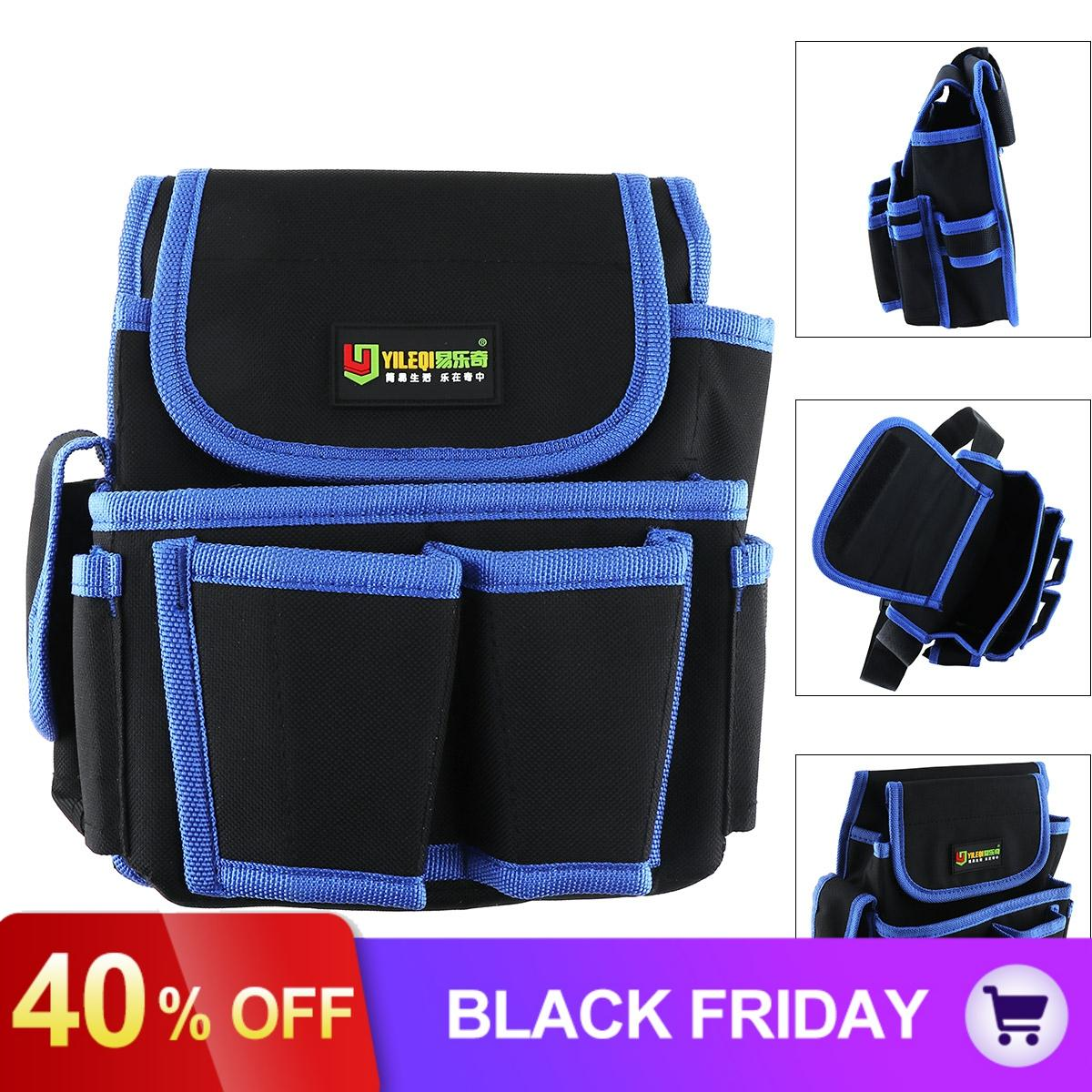 Multifunctional Durable Waterproof Waist Tool Bag With 4 Holes 2 Pocket /Electric Drill Pocket For Home /Industrial Maintenance
