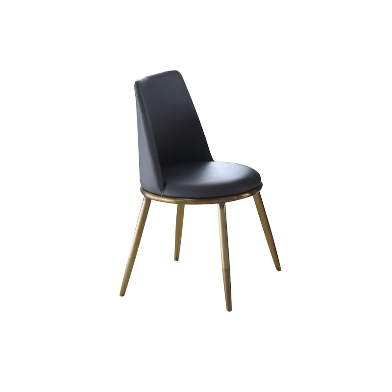 Light Luxury Dining Chair Postmodern Hotel Cafe Bar Chair Home Stainless Steel Gold-plated Wind Designer Chair