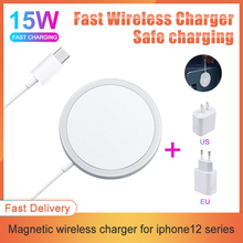 Magnetic fast charging for iPhone12 Pro Max 15W Wireless charger Magsafing 20W EU US PD Plug Multi-color Fast Wireless Charging