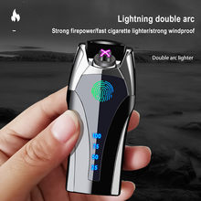 Fingerprint USB Recharge Smoking Electronic Gift Metal Lighter For Boyfriend Father Girlfriend Gift For Christmas
