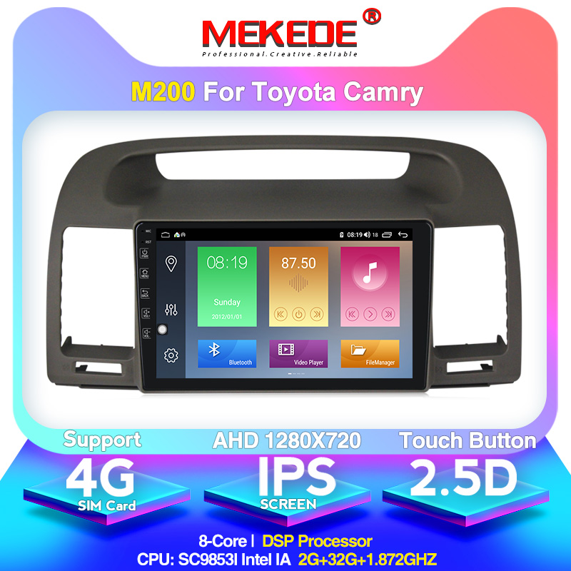 MEKEDE Android 10.0 4+64G IPS DSP For Toyota Camry 5 XV 30 2001-2006 Car Radio Multimedia Video Player Navigation GPS 2din
