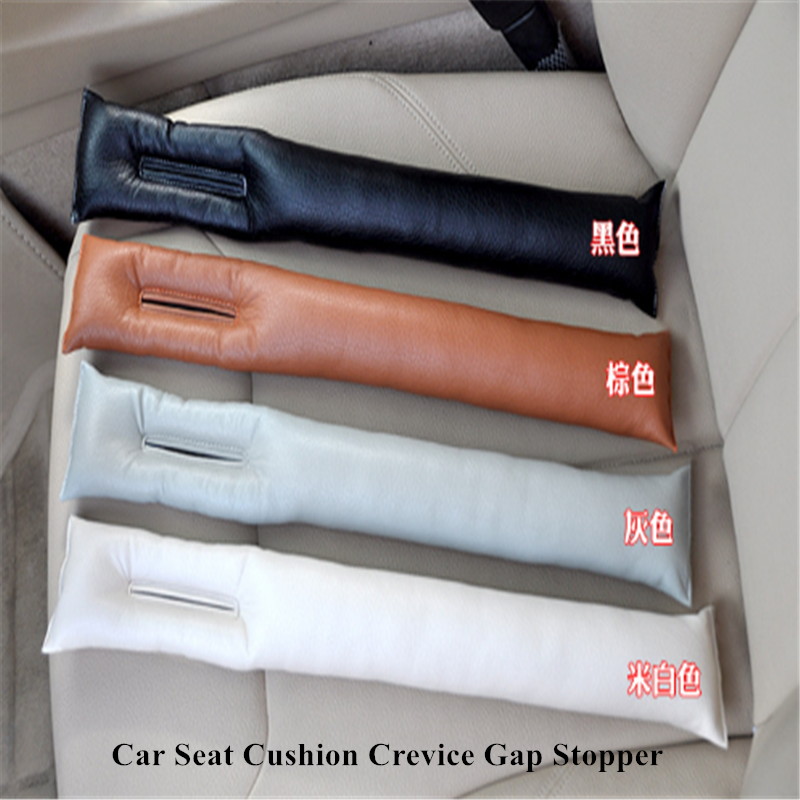 Free Shipping Grey Black Beige Brown Car Seat Cushion Crevice Gap Stopper PU Leather Leakproof Protector Car Seat Cover Pad New