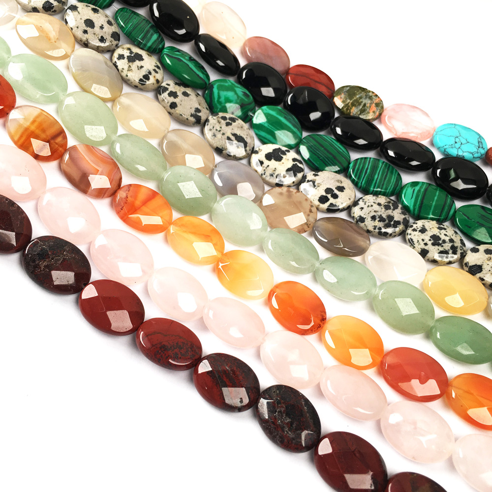 """13x18mm pink Crazy Lace Agate Gems Oval Beads Necklace 18/""""AAA+2A"""