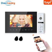 Doornanny WiFi Wireless Video Intercom System Für Home Wohnung Passwort Karte Zugang Video Türklingel-türsprechanlage Entsperren AHD960P