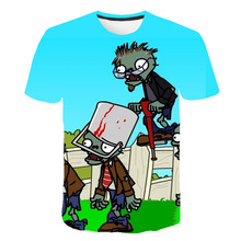 2020 Cute Children's Clothes Plants vs Zombies War Tshirt Boys t shirt T Kids Girl Tops Children T-shirt Baby Girls Sweatshirts children s clothes plants vs zombies wars t shirt boys t shirt kids cartoon tshirt baby girls boys clothing summer cool tops tee