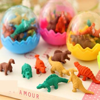 Hot 7 sztuk zestaw Dinosaurio Mini gumka gumka śliczne jajo dinozaura gumka Box szkoła papiernicze artykuły biurowe losowy kolor 5*4cm tanie i dobre opinie Santtiwodo CN (pochodzenie) LXY002 RUBBER 3 lat GUMKA DO OŁÓWKA Gumka biurowa Zwierząt FANTASTIC