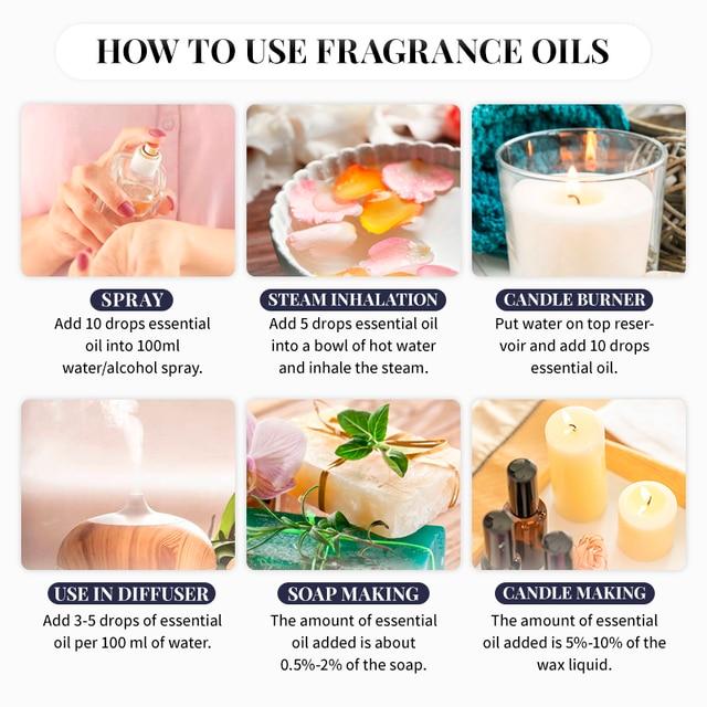 Angel Fragrance Oil 10ML with Dropper Perfume Oil Diffuser Essential Oil Jadore Coconut Vanilla Coffee Apple Peach Violet Oil 4