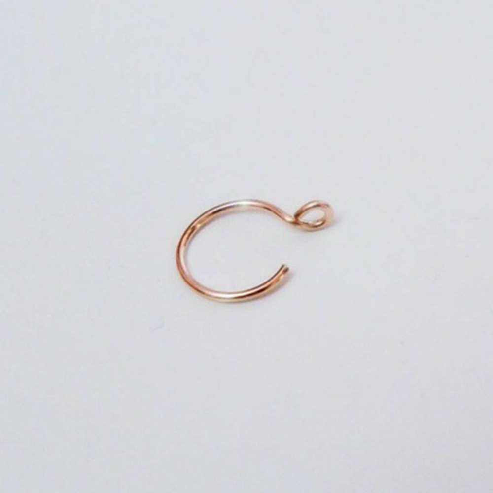 Anel de nariz de titânio anel de nariz falso anel de nariz piercing de septo clip on anel de nariz falso piercing de ouro clipe de corpo hoop