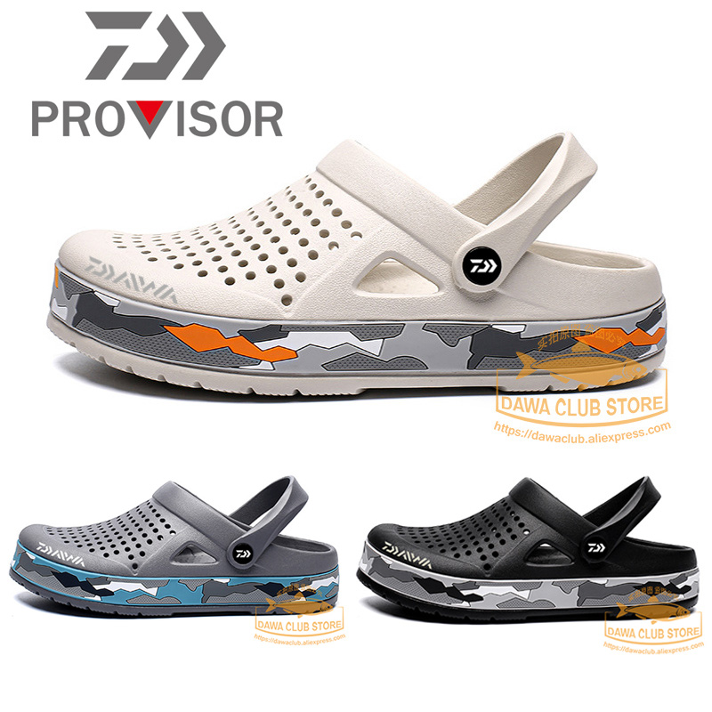 2020 DAWA Fishing Shoes Beach Sandals Camouflage Outdoor Shoes Light Weight Breathable Slipper Daiwa Men Summer Soft Water Shoes