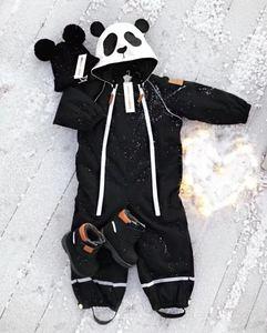 Image 2 - Girlymax niños línea de ropa amigos panda snowsuit niños ropa Niñas Ropa familia juego ropa estilo coreano