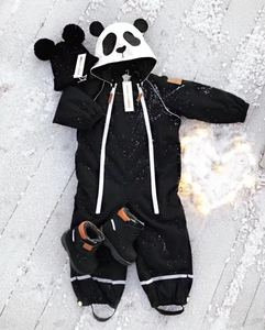 Image 2 - girlymax kids clothes line friends panda snowsuit boys clothing girls clothing family matching clothes korean style