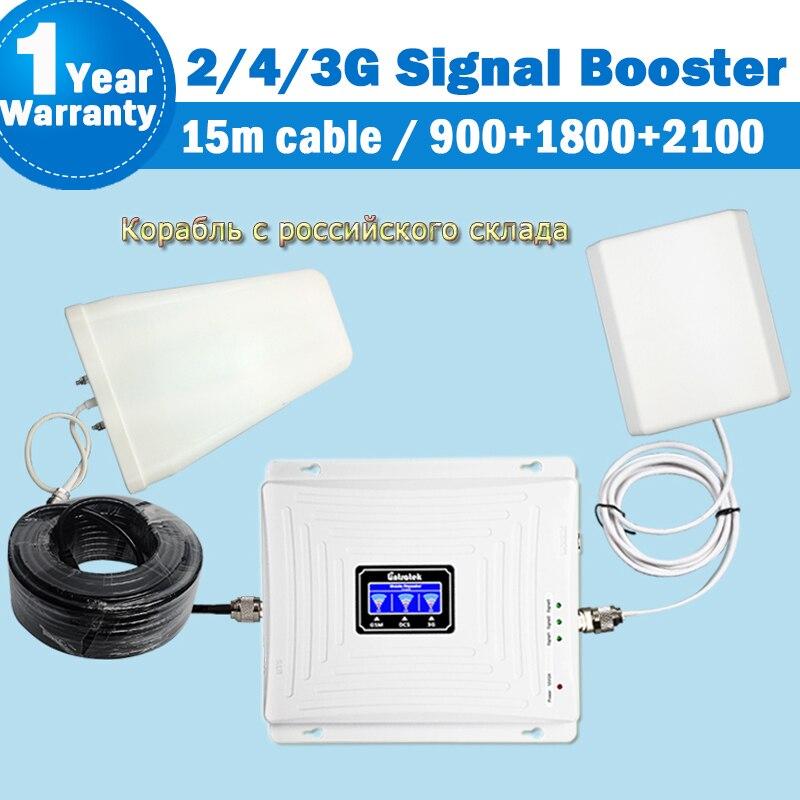 Wzmacniacz sygnału Lintratek 2g 3g 4g 900 1800 2100 GSM WCDMA DCS wzmacniacz komórkowy wzmacniacz telefonu komórkowego Internet pełny zestaw odprawy