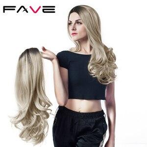 Image 3 - FAVE perruque synthétique mixte noire cendré Blonde