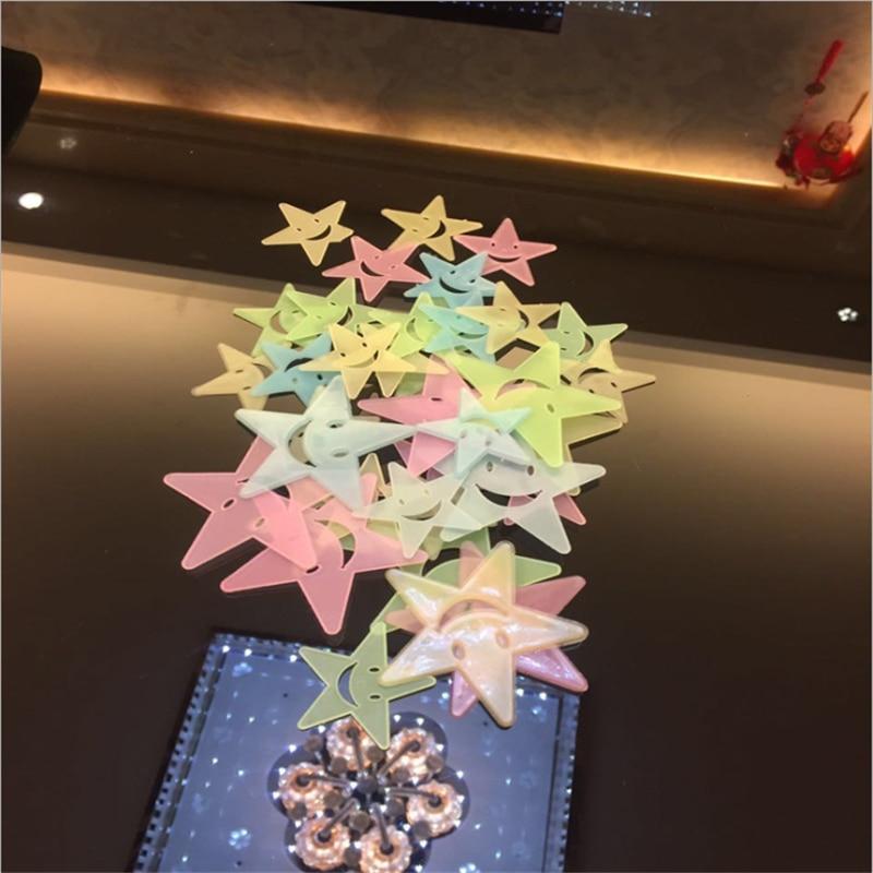 3D Stars Glow In The Dark Muurstickers Lichtgevende Fluorescerende Muurstickers Voor Kids Baby Kamer Slaapkamer Plafond Home Decor