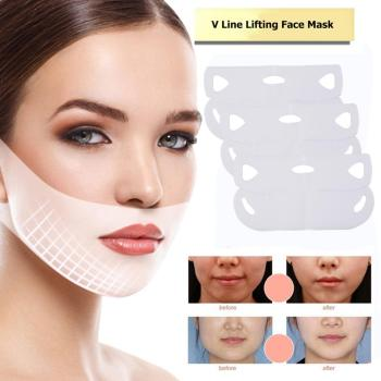 1/3/5/10/15pcs 4D Double V-shaped Facial Mask Tension Firming Mask Face Slimming Lifting Thin Mask Beauty Face Care Tool