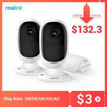 Reolink ארגוס 2 אלחוטי חוט משלוח סוללה IP מצלמה מלאה HD 1080P 2MP חיצוני מקורה IP65 עמיד אבטחה מצלמת תצוגה רחבה