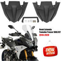 Front Wheel Fender Beak Nose Cone Extension Cover For Yamaha MT 09 Tracer 900 GT FJ09 2018 2019 2020 MT09 MT-09 Extender Cowl