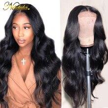 Nadula koronkowa peruka na przód 13*4/4*4 brazylijski peruka Body Wave średni brąz koronki przodu włosów ludzkich peruk 360 peruki typu Lace Front dla kobiet