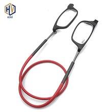 Висит шеи Магнитные очки для чтения пресбиопические Для мужчин Для женщин Мягкий TR90 Магнитный Винтаж очки 1,0 1,5 2,0 2,5 3,0