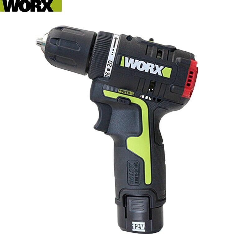 Worx 12v sem fio do motor sem escova chave de fenda elétrica wu130 ferramenta profissional com 1 bateria e 1 carregador