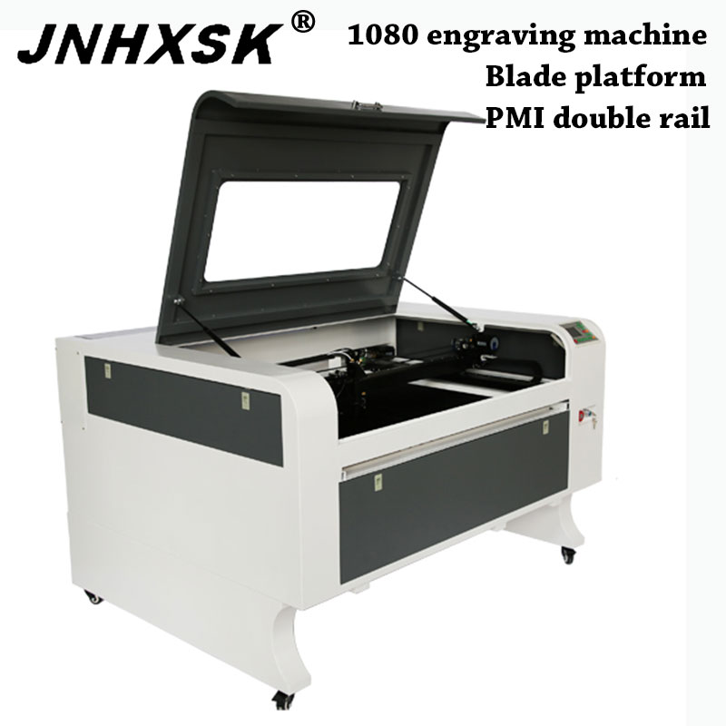 JNHXSK 1080 100w Reci Ruida Co2  Laser Engraving Cutting Machine  Cnc CO2 Router Free Shipping CFR Paper Rubber Leather Wood