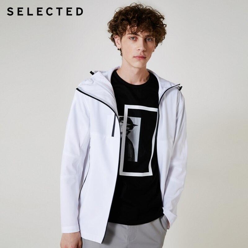 SELECTED Men's Waterproof Windbreaker Outwear Autumn Casual Long-sleeved Jacket Coat C | 418321515