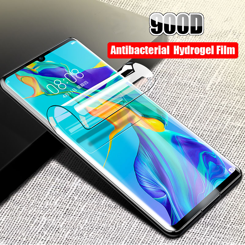 2-1Pcs Protective 900D Screen Protector For Huawei P20 Lite P30 Pro  Hydrogel Film For Honor Play 20 8X 9 10 Lite Film Not Glass