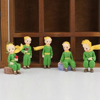 Little Prince Figures Resin Statue Rose Children Kid Christmas Gift Miniatures Bonsai Moss Terrarium Decor Fairy Boy Art Cartoon scott woods prince and little weird black boy gods
