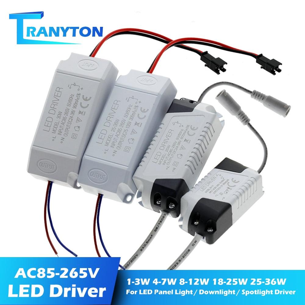 Светодиодный источник питания 1 Вт-36 Вт 300мА адаптер драйвера AC85-265V трансформатор освещения для светодиодной панели светильник