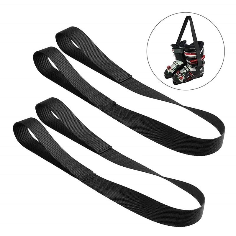 2Pcs Ski Boots Carrier Strap Snowboard Boot Shoulder Sling Belt For Ice Skates Rollerblades Skiing Accessories