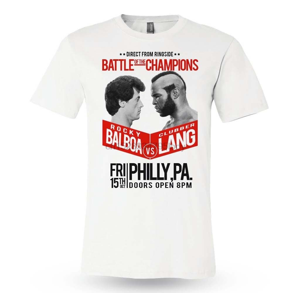 Rocky III Movie Clubber Lang Street Fighter Licensed Adult T-Shirt All Sizes