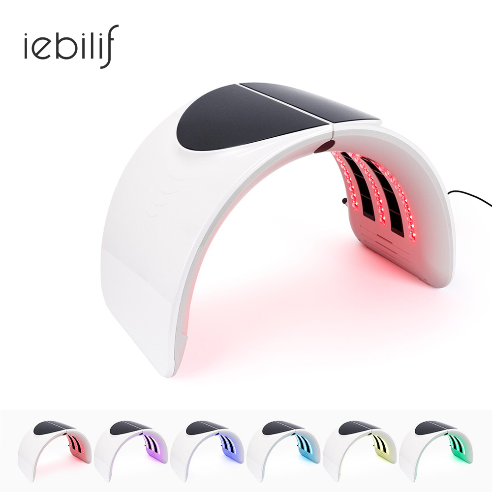 Korean Facial Mask 7 Colors Photon Therapy Anti Aging Acne Wrinkle Removal Whitening LED Light Therapy Device Foldable Style