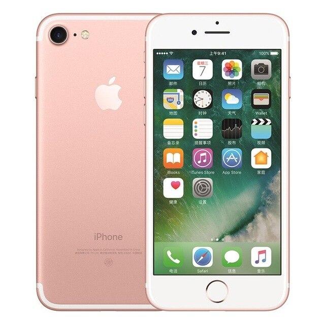 Разблокированный смартфон Apple iPhone 7 4G LTE 4,7 дюймов Apple A10 IOS 12,0 МП камера отпечатков пальцев 32 ГБ/128 ГБ/256 ГБ rom смартфоны - Цвет: Pink