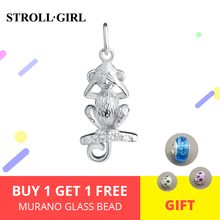 StrollGirl 100% 925 Sterling Silver Animal Monkey Beads Charm Suitable Pandora Bracelet Women Fashion Jewelry Free Shipping hot цена