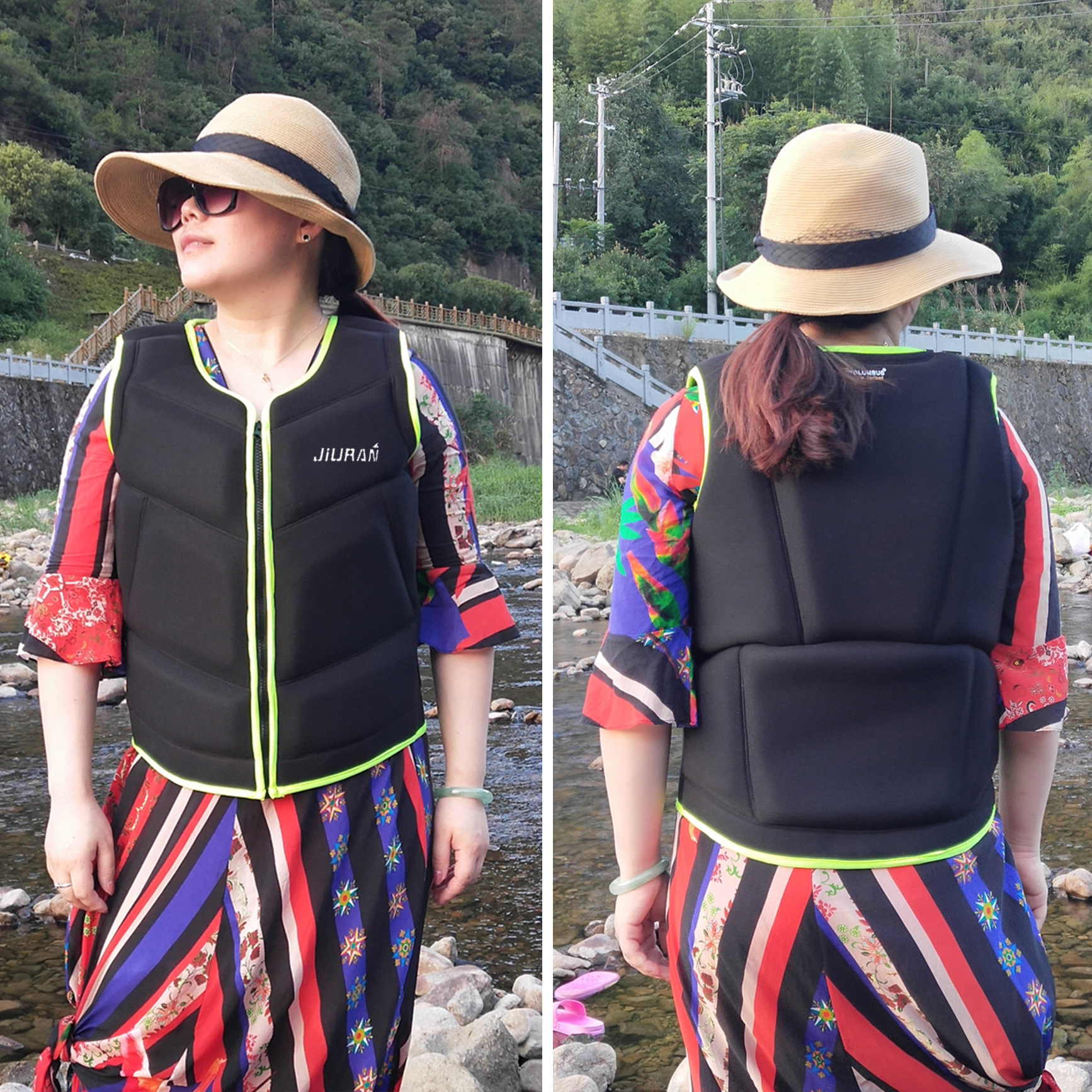 Fishing Vest Outdoor Water Sports Life Jacket Adult Kids Life Vest Jacket Swimming Boating Ski Drifting Life Vest For Man/Women