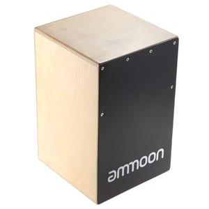 Ammoon портативный Cajon ручной барабан детская деревянная коробка барабан Persussion музыкальный инструмент с клещами резиновые ножки