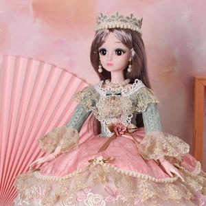60 см модные куклы для девочек, игрушка Simul, пластик, одеваются, соединяются, сделай сам, умная, большая принцесса, декоративная кукла для дево...