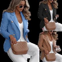 Button Ladies Blazer Woman 2020 Work Suit Women's Jacket Fem