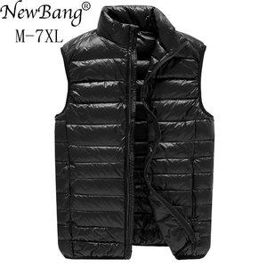 Image 1 - NewBang Chaleco ultraligero para hombre, 6xl, 7xl Plus, portátil, sin mangas, ligero, cálido, chaqueta de plumas de pato blanco